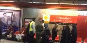 İranlı kadından ahlak polisine tekme