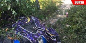 Kontrolden çıkan traktör takla attı: 1 ölü, 3 yaralı