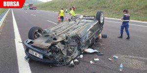 TIR'a çarpan otomobilin sürücüsü ağır yaralandı