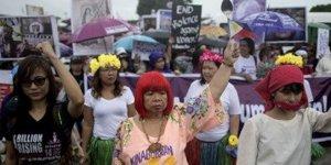 Duterte'ye protesto