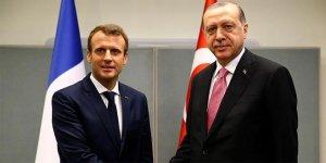 Erdoğan ile Macron 'Suriye'yi görüştü