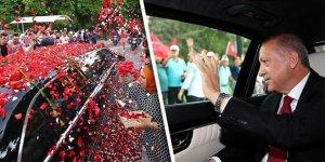 Erdoğan TBMM'ye gelişinde güllerle karşılandı