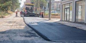 Altyapı çalışması biten yollara asfalt