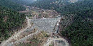 Bursa'nın yeni barajında çalışmalar sürüyor