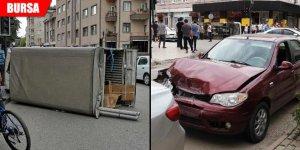 Otomobil ile kamyonet çarpıştı: Yaralılar var