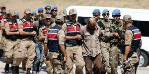 Suriye'de yakalanan 9 YPG/PKK'lı terörist adliyede