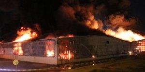 Aydın'da fabrika yangını