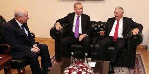 Cumhurbaşkanı Erdoğan ile MHP lideri Bahçeli Meclis'te görüştü