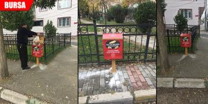Sokak hayvanları için ekmek toplama kutusu