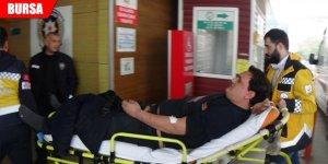 2 metre yükseklikten düşen işçi yaralandı