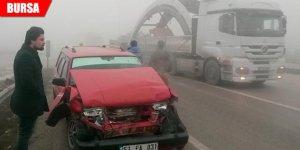 Sis kazaya neden oldu: 3 yaralı