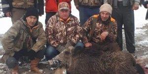 180 kiloluk domuz vurdular