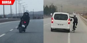 Trafik magandaları kameralara yakalandı