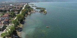 İznik Gölü'nde ilk kez görüldü! Hemen kayıt altına alındı