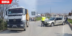 Kamyon, otomobile çarptı: 1 yaralı