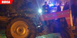 Traktöre çekici çarptı: 1 yaralı