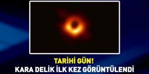 Bilim insanları açıkladı! İşte kara delikten ilk fotoğraf