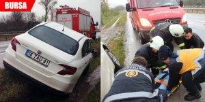 Yağmurla gelen kaza: 1 yaralı