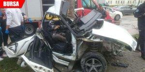 Korkunç kaza güvenlik kamerasına böyle yansıdı