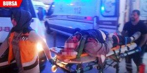 Otomobille çarpışan bisiklet sürücüsü ağır yaralandı