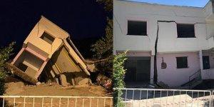 Mahalle tamamen boşaltıldı! 15 ev yıkıldı...