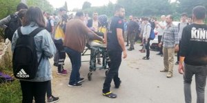 'Drift' yaparken öğrencilere çarptı