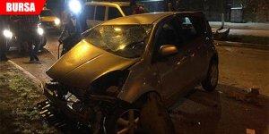 Sahur yolunda feci kaza... Ön camdan fırladı!