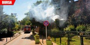Lisenin bahçesinde korkutan yangın