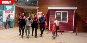 Cezaevi firarisi kalasların arasında yakalandı