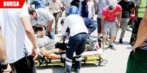 Motosikletli çocuk yaralandı