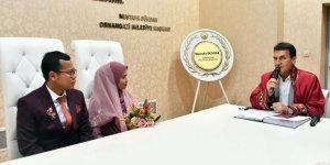 Endonezyalı çift, Bursa'da dünya evine girdi