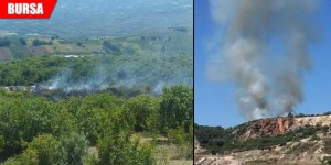 Korkutan yangına havadan ve karadan müdahale