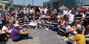 Kadına şiddete CHP'den protesto
