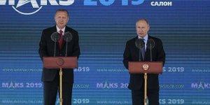 Cumhurbaşkanı Erdoğan Rusya'da! Havacılık fuarı açılışını yaptılar