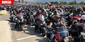 1500 motosikletli, Zafer Bayramı'nı kortejle kutladı