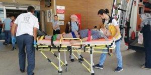 İnegöl'de minibüsün çarptığı bisikletli yaralandı