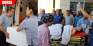 Korkunç kaza! Kopan bacakla hastaneye sevk edildi