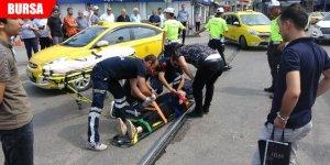 Motosikletten düşen hamile kadın yaralandı
