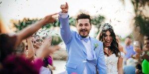 Çeşme'de evlendiler