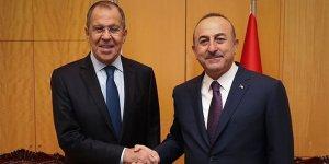 Çavuşoğlu, Lavrov'la Suriye'yi görüştü