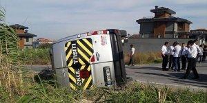 Okul servisi kaza yaptı: 9 yaralı