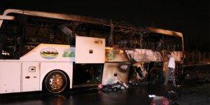Yine yolcu otobüsü yangını