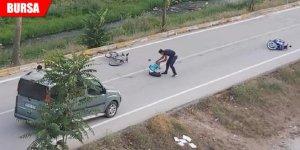 Kazada yaralanan çocuğu bırakıp kaçtı