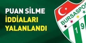 Bursaspor, puan silme iddialarını yalanladı