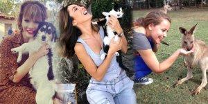 4 Ekim Dünya Hayvanları Koruma Günü'nde ünlüler ve sevimli dostları