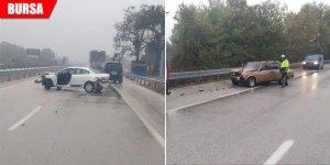 Yağmurla gelen zincirleme kaza: 3 yaralı