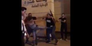 Lübnan'ın polisetekme atan kadını