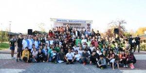 Yüzlerce sporcu 'Dostum Oryantiring Kupası' için ter döktü