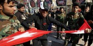 Irak'ta Türk bayrağına çirkin saldırı