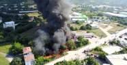 Bursa'da boya fabrikasında yangın